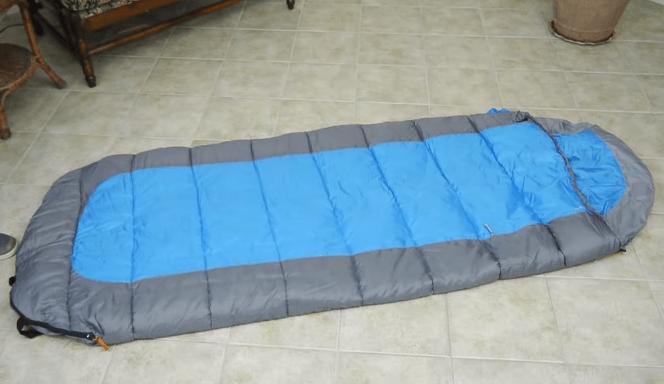 fold sleeping bag step 2