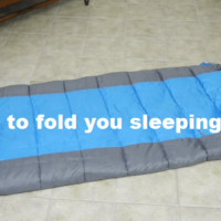 fold sleeping bag tip